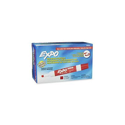 EXPO Low Odor Dry Erase Marker, Chisel Tip, Red