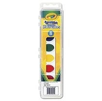 Crayola Washable Watercolor Paint Set Assorted Colors, 8 Panel