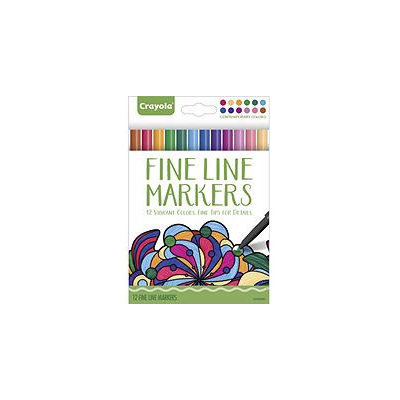 Crayola Fine Line Markers, Contemporary Colors, 12ct.