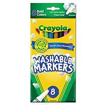 Crayola Washable Markers Fine Point Bold Colors 8/Set