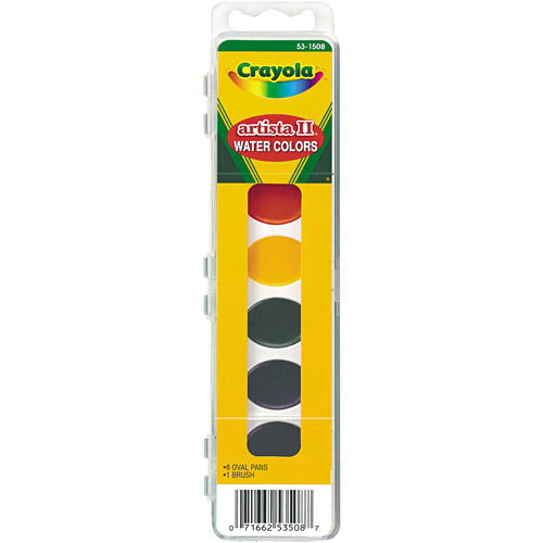 Crayola Artista II 8-Color Watercolor Set, Assorted Colors