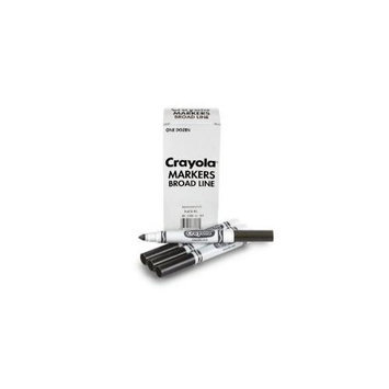 Crayola Conical Marker conical shape point black each marker