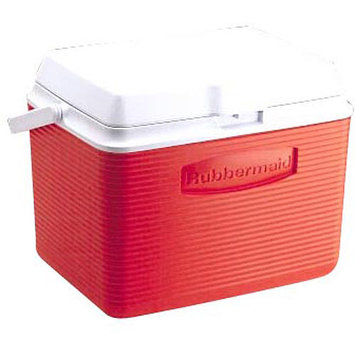Rubbermaid 24 Quart Classic Red Victory Personal Cooler FG2A1304MODRD