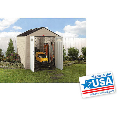 Rubbermaid Gable Storage Shed (Common: 7-ft x 10-ft; Interior Dimensions: 6.75-ft x 10.2-ft) 1862706
