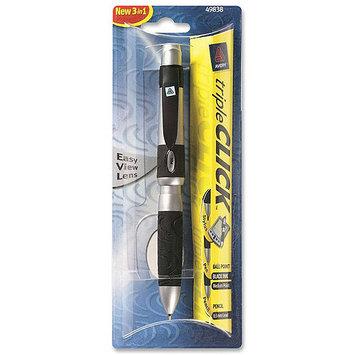 Avery tripleCLICK Black Medium Ballpoint Multifunction Pen