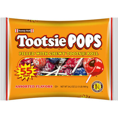 Tootsie Pops Candy, 55 count, 34.2 oz