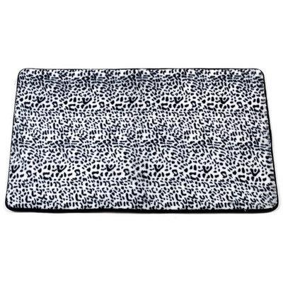 Carnation Home Fashions BM-FF-SNO Snow Leopard Faux Fur Bath Mat Size 20 in. x 31 in.