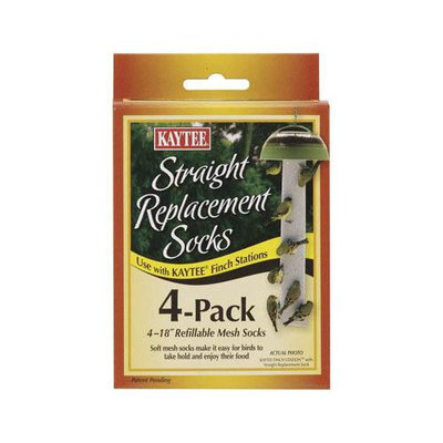 Kaytee Products Wild Bird Replacement Straight Sock (4 Pack)