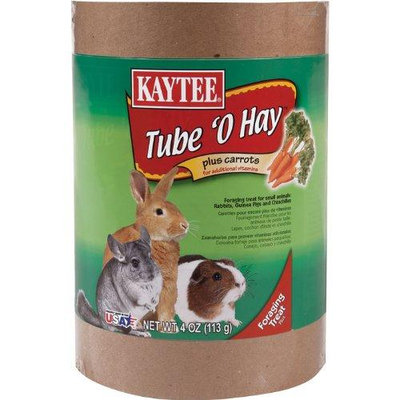 Kaytee Products Inc Tube O Hay Plus Carrot Carrot 4 Ounce