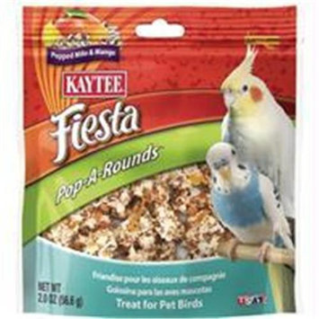 Kaytee Products Inc Fiesta Poparounds Treat Pet Birds Mango 2 Ounce