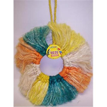 Pets Choice 463-00107 Sisal Multi Color Ring Bird Toy Size 14in
