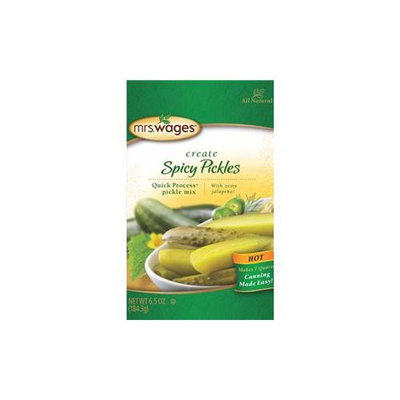 Precision Foods Inc-Mrs. Wages Quick Process Pickle Mix- Spicy Pickels 6.5 Ounce