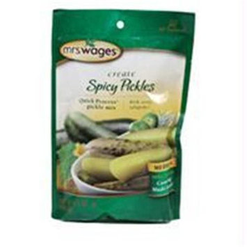Precision Foods Inc-Mrs. wages Quick Process Pickle Mix- Spicy Pickels 6.5 Ounce - Med