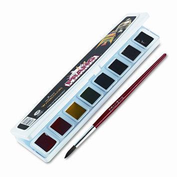 Prang Professional Watercolors, 8 Assorted Colors, Half Pans