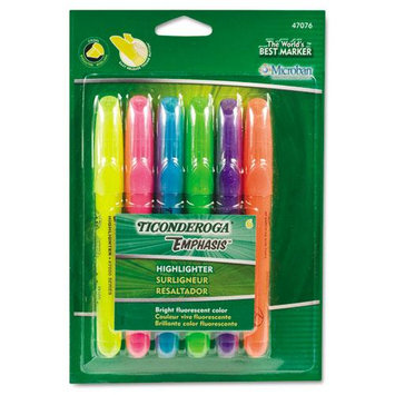 Dixon Ticonderoga Highlighters Assorted Chisel Point Desk Style