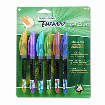 Dixon Ticonderoga Highlighters Assorted Emphasis Pocket Style