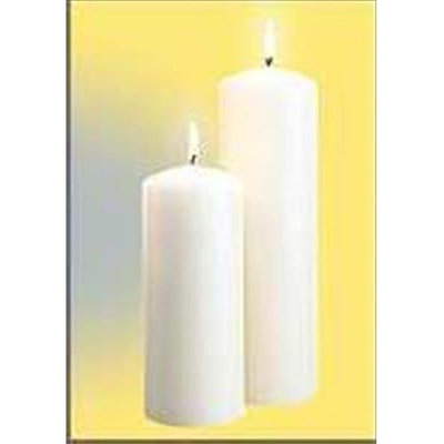 Emkay Candles 184109 Candle Ceremonial Pillar White 8 x 3