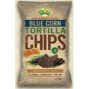 The Real Deal All Natural Snacks Tortilla Chips Blue Corn 24 oz