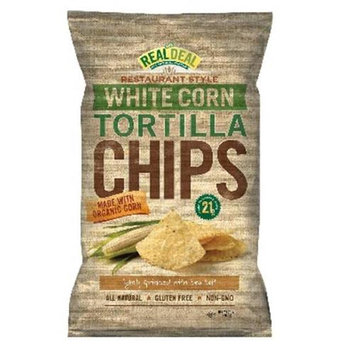 Real Deal Games The Real Deal All Natural Snacks Tortilla Chips White Corn 24 oz