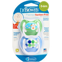 Babies R Us Dr. Brown's Prevent Pacifier 0-6M - Green & Blue