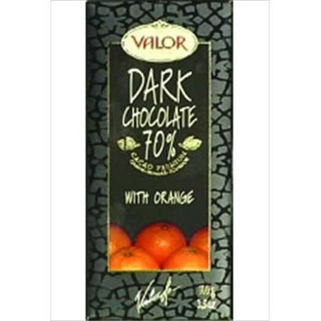 Valor Dark Chocolate with Orange - 17 Bars (3.5 oz ea)