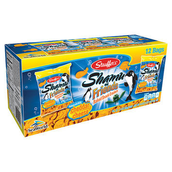 Stauffer's Shamu and Friends Cheddar Cheese Baked Snack Crackers, 1.5 oz, 12 count