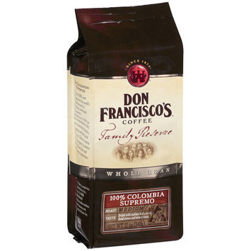 Don Francisco's Coffee Don Francisco's Family Reserve Supremo Whole Bean Coffee, 12 oz