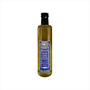 Delallo Vinegar Imprtd Itln White Wine 16.9 Oz, Pack of 12