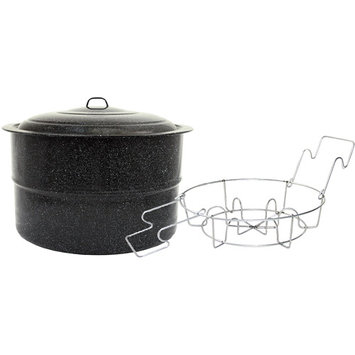 Columbian Home Prod. Columbian Home Products 33 Quart Black Granite Canner With Lid 0709-2