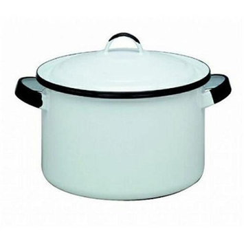 Columbian Prod 6169-4 WHT 5.75 Quart Stock Pot Enamel