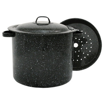 Sun Oven Granite Ware 4 Quart Stockpot with Steamer Insert