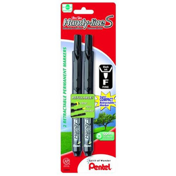 Pentel 22905 Pentel 2 Pack Ultra Slim Handy LineS Retractable Markers - 6 Packs