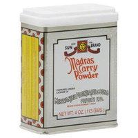 Fansedge Sun Brand Madras Curry Powder, 4 oz, - Pack of 12