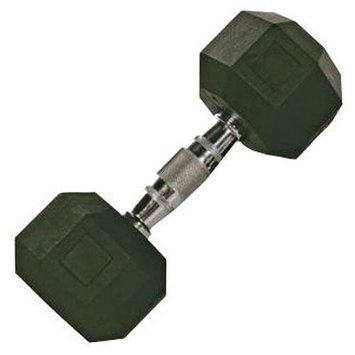 Vtx 55 lb Rubber Encased Octagonal Dumbbells (Set of 2)