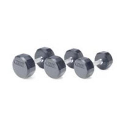 Troy Barbell TSD-055R Troy 12-Sided Rubber Encased Dumbbell - 55 lbs. - Sold as single dumbbell