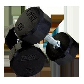 Troy Barbell TSD-085R Troy 12-Sided Rubber Encased Dumbbell - 85 lbs. - Sold as single dumbbell