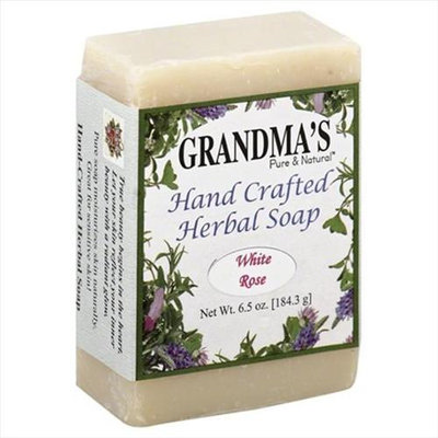 Grandmas Pue & Ntl Grandmas Pure & Ntl 6 oz. White Rose Hand Crafted Herbal Soap - Case Of 1