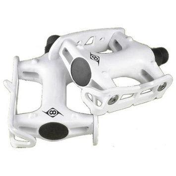 Origin8 Pro Track Light Fixed Gear White Bike Pedals