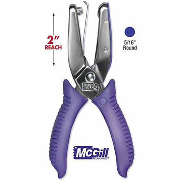 Mcgill 15-Sheet 2 Reach One-Hole Punch, 5/16 Hole, Chrome w/Purple