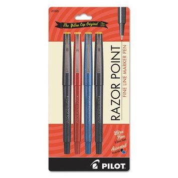 Pilot 11045 Fineliner Marker Pen Ultra-fine Black/blue/red .3mm 4/pack