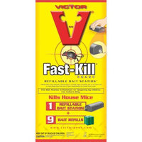 Woodstream Victor Rodnt D - Victor Fast-kill Refillable Bait Stations 9 Pack - M917