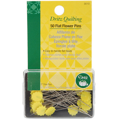 Dritz Quilting Flat Flower Pins -2