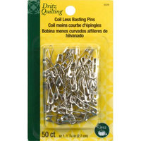 Dritz Coil-Less Curved Safety Pins-Size 1 50/Pkg