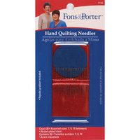 Dritz Fons & Porter Hand Quilting Needles-Sizes 7/9/10 2