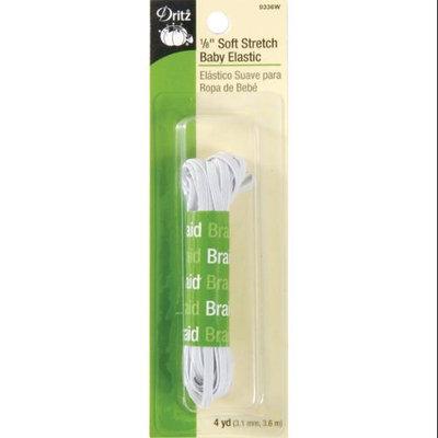 Dritz 103395 Soft Stretch Baby Elastic .13 in. x 4 Yards-White