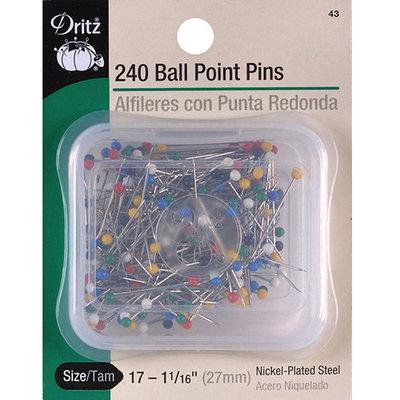 Dritz 43 Color Ball Point Pins-Size 17 240-Pkg