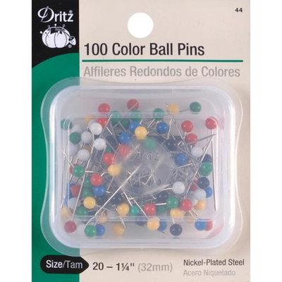 Dritz 44 Color Ball Pins-Size 20 100-Pkg