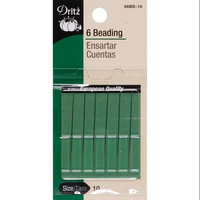 Dritz Short Beading Hand Needles-Size 10 6/Pkg