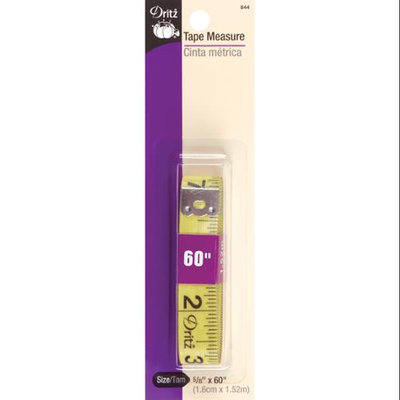 Dritz 80121 Tape Measure.63 in. x 60 in. Yellow