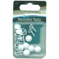 Dritz Upholstery Decorative Nails 7/16 24/Pkg-White Smooth Head